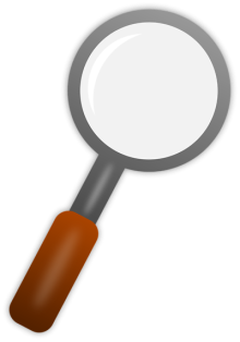 Sketch of magnifying glass